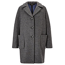 Buy Weekend by MaxMara Dogtooth Wool Coat, Medium Grey Online at johnlewis.com