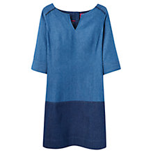 Buy Joules Esme Denim Casual Dress, Dark Blue Chambray Online at johnlewis.com
