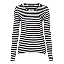 Buy Weekend by MaxMara Silvia Stripe Jersey Top, Navy/Beige Online at johnlewis.com