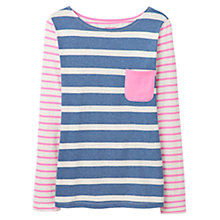 Buy Joules Frankie Stripe Jersey Top, Blue Marl Online at johnlewis.com