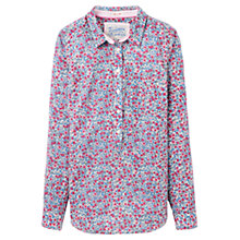 Buy Joules Charlotte Floral Print Shirt, Fondant Pink Online at johnlewis.com