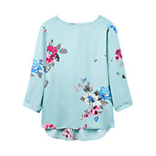 Buy Joules Hope Floral Printed Shell Top, Nordic Blue Posy Online at johnlewis.com