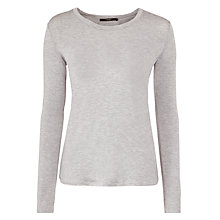 Buy Weekend by MaxMara Long Sleeve Jersey Top, Light Grey Online at johnlewis.com