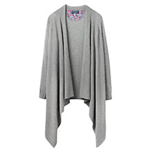 Buy Joules Eriesta Longline Waterfall Cardigan, Soft Grey Online at johnlewis.com