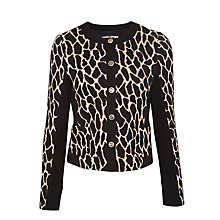 Buy Gerry Weber Animal Knitted Jacket, Beige/Black Online at johnlewis.com