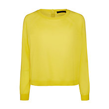 Buy Weekend by MaxMara Sicilia Button Back Jumper, Yellow Online at johnlewis.com