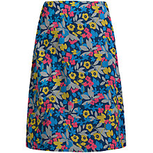 Buy Seasalt Portfolio A-Line Print Skirt, Pressed Flowers Galley Online at johnlewis.com