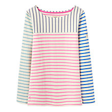 Buy Joules Harbour Stripe Jersey Top, Hotch Potch Multi Online at johnlewis.com