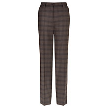 Buy Gardeur Kayla Check Trousers, Chocolate Online at johnlewis.com
