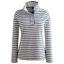 Buy Joules Cowdray Striped Button Neck Sweatshirt, Saltwash Online at johnlewis.com