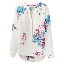 Buy Joules Rosamund Floral Print Blouse, Cream Online at johnlewis.com