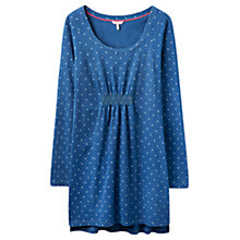 Buy Joules Lara Spot Jersey Tunic, Indigo Online at johnlewis.com