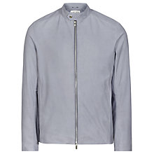 Buy Reiss Tyler Suede Perforated Jacket, Airforce Blue Online at johnlewis.com