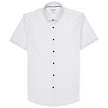 Buy Reiss Sebastian Short Sleeve Print Shirt, White Online at johnlewis.com