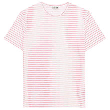 Buy Reiss King Stripe Short Sleeve T-Shirt, Rose Online at johnlewis.com