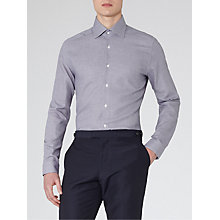 Buy Reiss Sydenham Micro Check Shirt, Grey Online at johnlewis.com