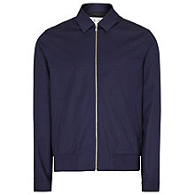 Buy Reiss Rocco Check Harrington Jacket, Blue Online at johnlewis.com