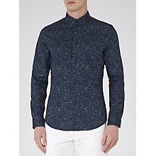 Buy Reiss Martens Print Shirt, Indigo Online at johnlewis.com