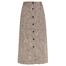 Buy Viyella Petite Chocolate Marl Linen Skirt, Bitter Chocolate Online at johnlewis.com