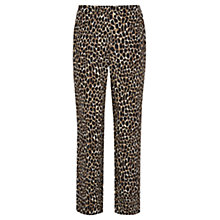 Buy Viyella Animal Print Trousers, Bitter Chocolate Online at johnlewis.com