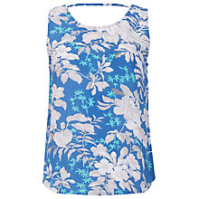 Buy Sugarhill Boutique Hawain Flower Swing Shell Top, Riviera Blue Online at johnlewis.com