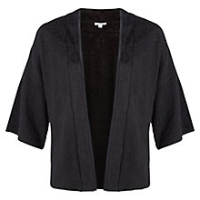Buy Jigsaw Embroidered Jersey Jacket, Black Online at johnlewis.com