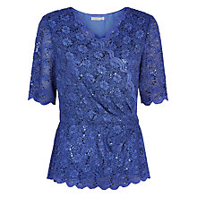Buy Jacques Vert Stretch Jersey Pleat Top, Scandinavian Blue Online at johnlewis.com