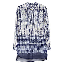 Buy Violeta by Mango Tie Dye Blouse, Bright Blue Online at johnlewis.com