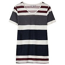 Buy Gerard Darel Amarena Linen Top, Blue Online at johnlewis.com