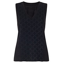 Buy Jigsaw Silk Linen Embroidered Tank Top Online at johnlewis.com