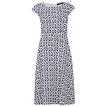 Buy Sugarhill Boutique Hope Stamp Print Dress, Navy/Cream Online at johnlewis.com