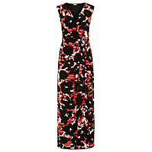 Buy Planet Patterned Maxi Dress, Light Red Online at johnlewis.com
