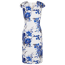 Buy Jacques Vert Floral Printed Shift Dress, Endless Blue Online at johnlewis.com