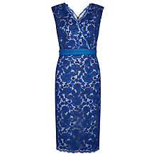 Buy Jacques Vert Corded Lace Dress, Azure Online at johnlewis.com