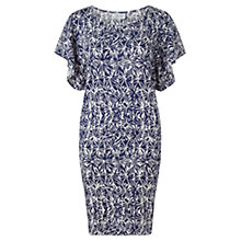 Buy Jigsaw Batik Shell Print Dress, Navy Online at johnlewis.com