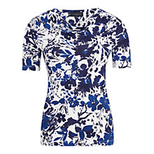 Buy Viyella Floral Print Cowl Neck Top, Navy Online at johnlewis.com