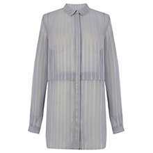 Buy Warehouse Double Layer Stripe Blouse, Multi Online at johnlewis.com