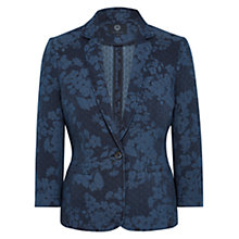 Buy Viyella Printed Cotton Jacket, Navy Online at johnlewis.com
