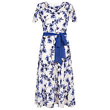 Buy Jacques Vert Small Flower Print Dress, Neutral Online at johnlewis.com