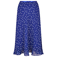 Buy Jacques Vert Spot Layer Skirt, Admiral Blue Online at johnlewis.com