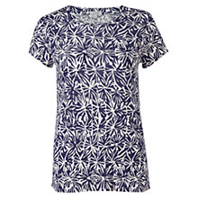 Buy Jigsaw Batik Shell Print Linen T-Shirt Online at johnlewis.com