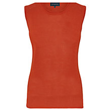 Buy Viyella Lightweight Knitted Vest, Paprika Online at johnlewis.com