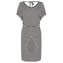 Buy Warehouse Stripe Dress, Black Online at johnlewis.com