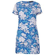 Buy Sugarhill Boutique Hawaiian Flower Tunic Dress, Cornflower Blue Online at johnlewis.com