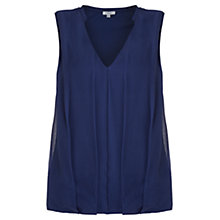 Buy Jigsaw Overlay Sleeveless Top Online at johnlewis.com