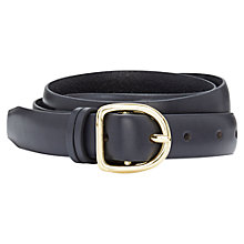 Buy Viyella Leather Belt, Navy Online at johnlewis.com