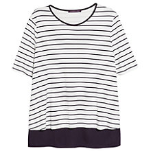 Buy Violeta by Mango Double Layer T-Shirt, Navy Online at johnlewis.com