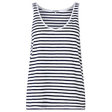 Buy Jigsaw Slub Cotton Stripe Tank Top Online at johnlewis.com