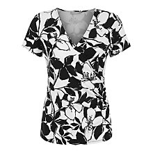 Buy Planet Mono Print Top, Black/White Online at johnlewis.com