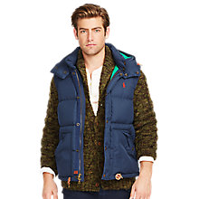 Buy Polo Ralph Lauren Elmwood Down Vest, Portland Navy Online at johnlewis.com